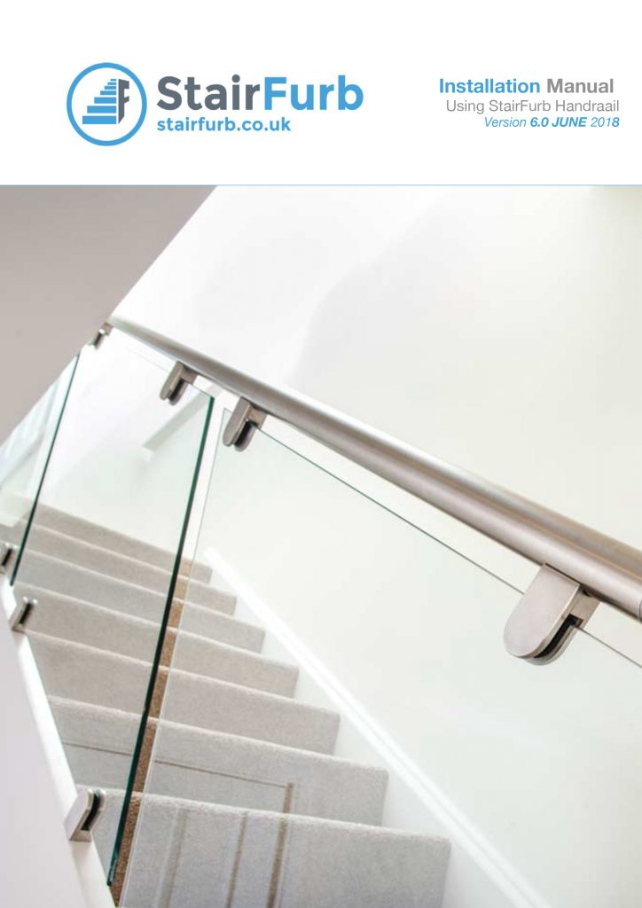 stairfurb fitting guide with handrail