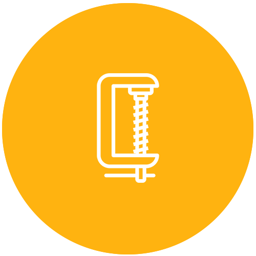 glass clamp icon